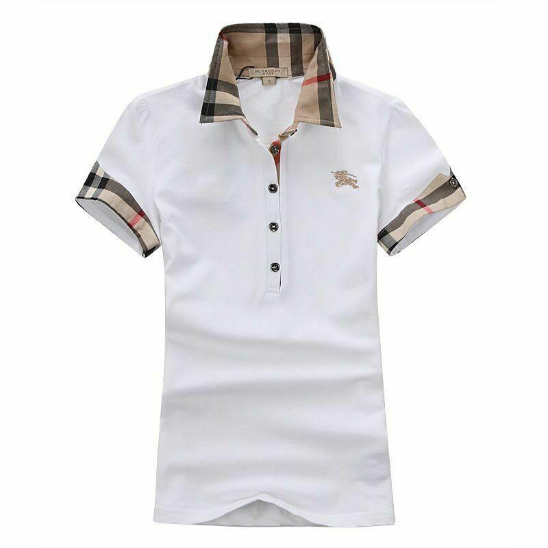 white burberry collar shirt