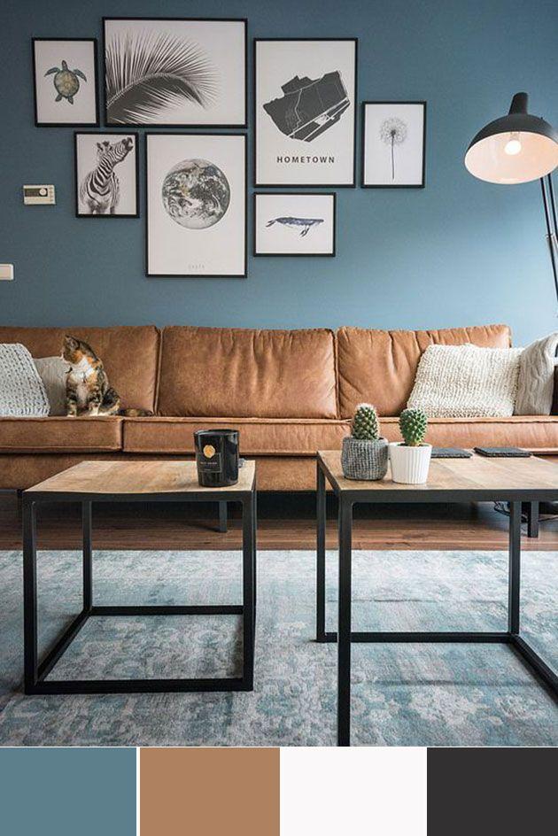 40 combinaciones de colores para pintar un salón | casa nueva ...