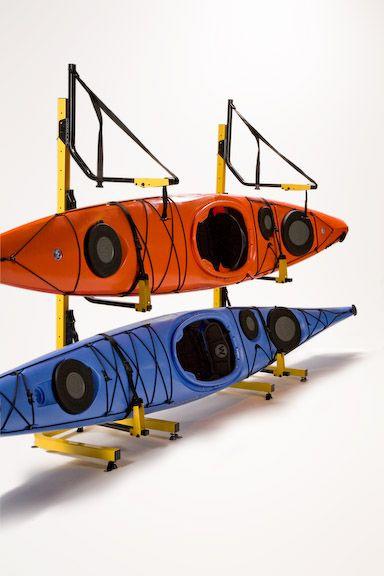 3 Boat Free Standing Kayak Storage Racks