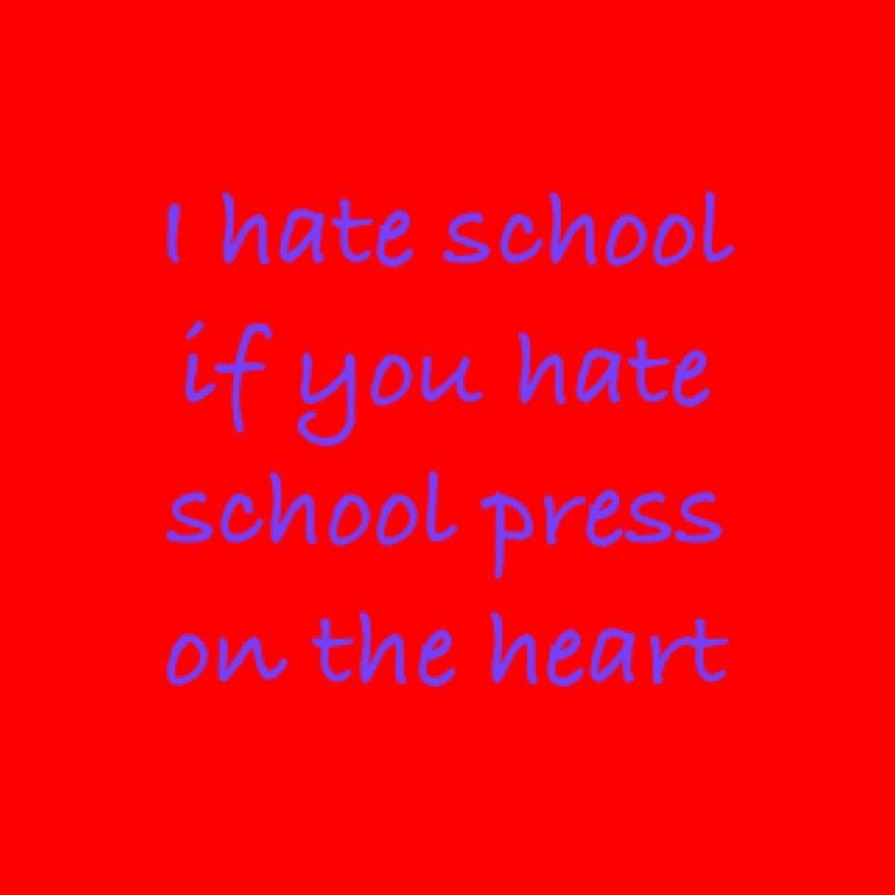 I Hate School So Much