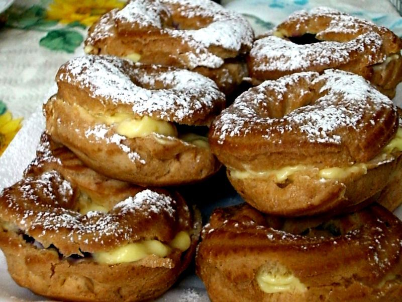 St. Joseph's Cakes ~ On this day, the feast of San Giuseppe, every Italian household makes its version of St. Joseph's Cakes , Zeppole, or cream puffs.
