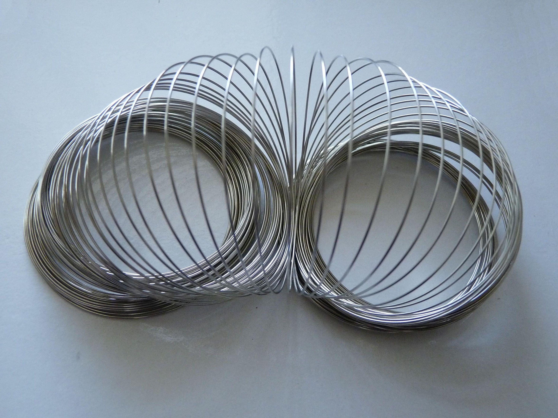 Memory Wire Bracelet, Bracelet Wire, 0.6x60mm White Gold Plated ...