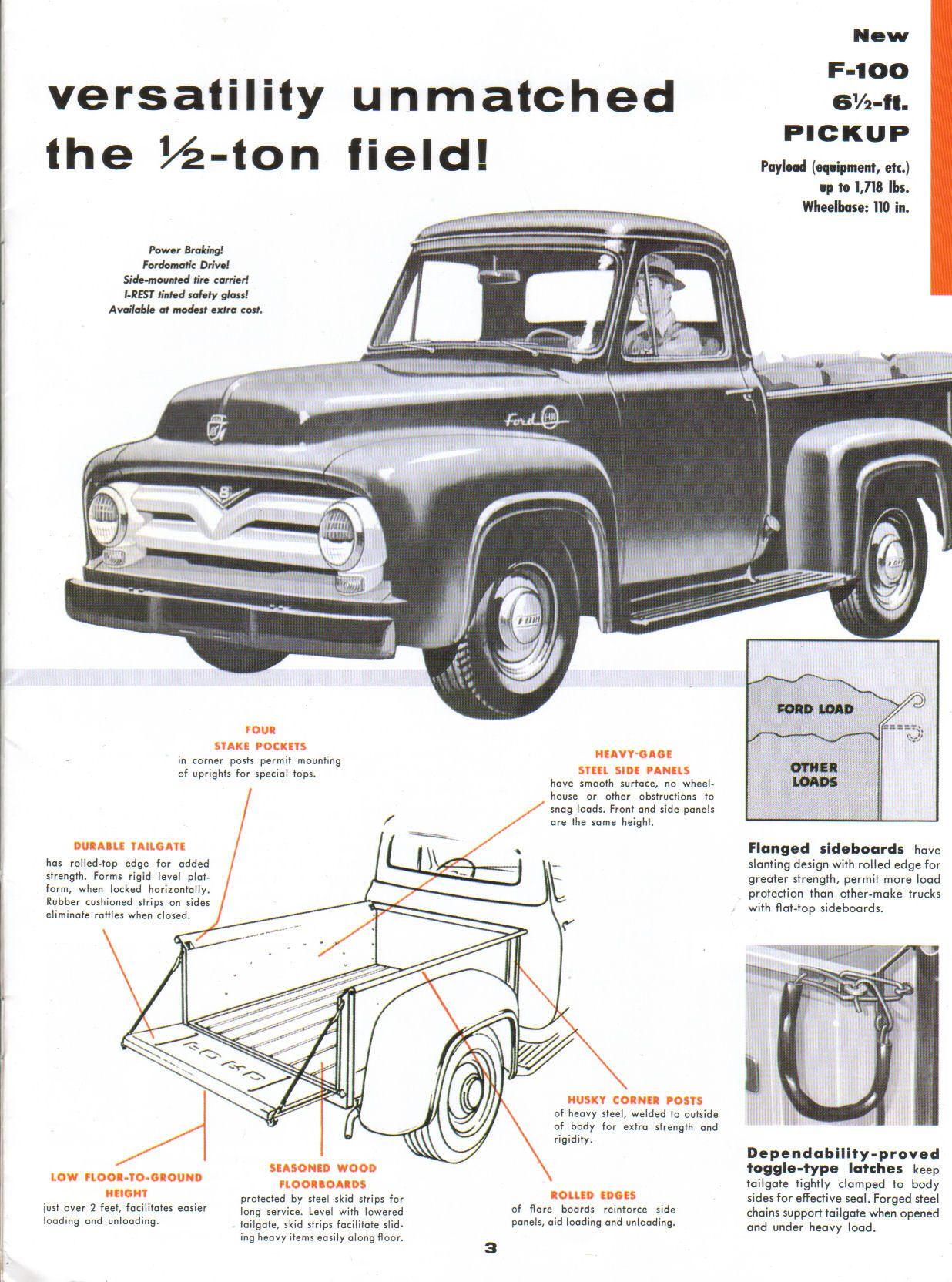 1955 Ford F100 Field | Ford pickup trucks, 1956 ford truck ...1956 Ford F100 Lifted