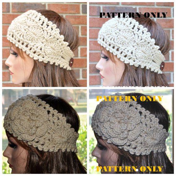 Pattern 1 PDF Instant Download Crochet headband pattern by Cobanul ...