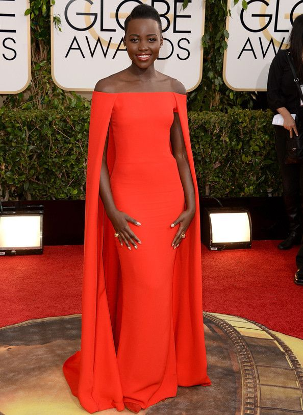 Lupita Nyong'o in Ralph Lawrence at The Golden Globes 2014