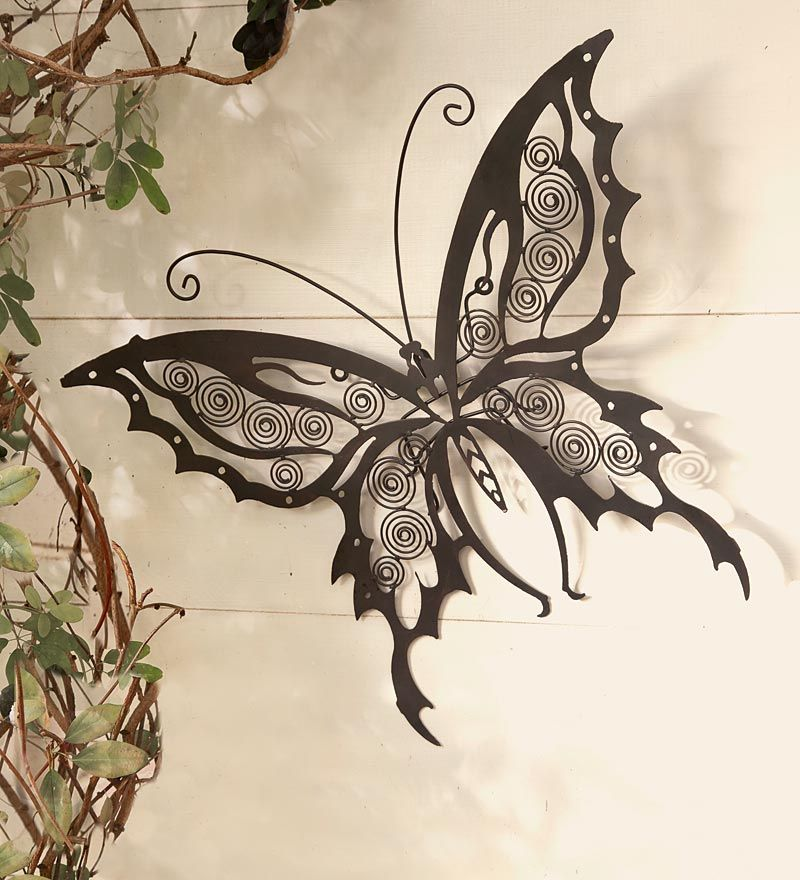 Iron Butterfly Wall Sculpture Grandgardens Metal Butterfly