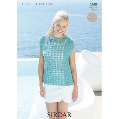 Top in Sirdar Cotton DK - 7240.