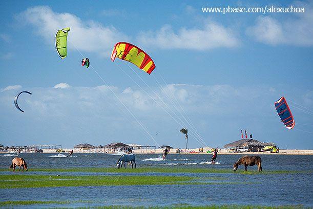 Kite surfing in Cumbuco, Ceará