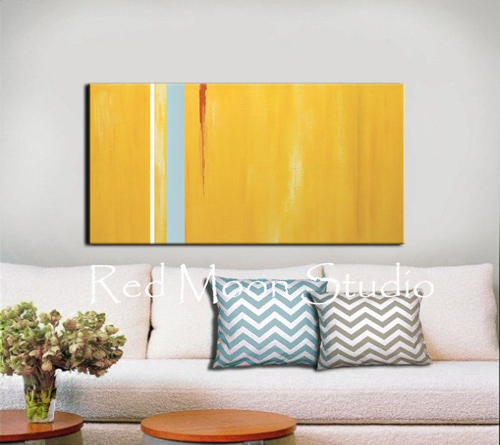 Abstract Painting, Abstract Art, Yellow Art, Yellow Abstract - Large ...