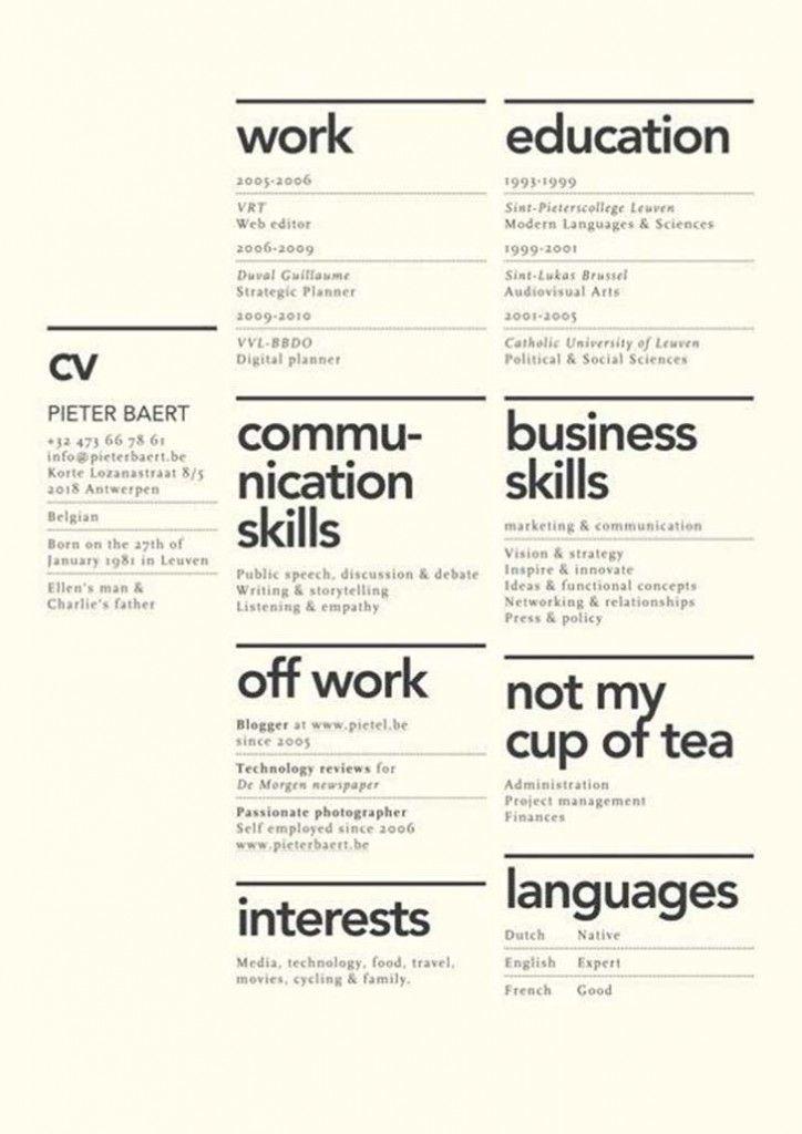 24 tipos de currículum que te darán ganas de robarlos para tu - portfolio resume examples