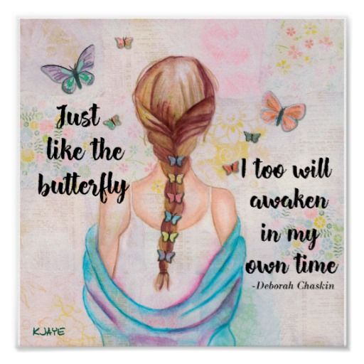 Just Like the Butterfly - Watercolor Art Print | Zazzle.com