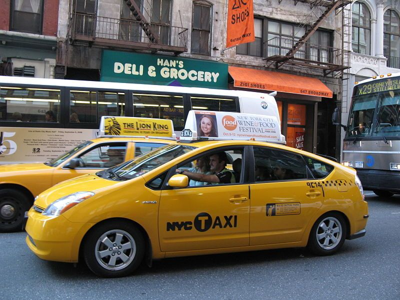 Toyota Prius Hybrid Taxi In New York City
