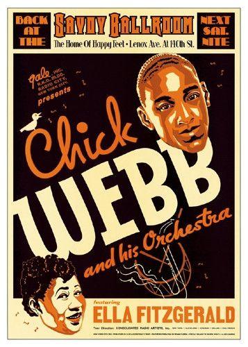Ella Fitzgerald Jazz Legend 1940 poster print