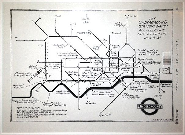 The First  London Tube Spoof Map  Drawn By Harry Beck  The