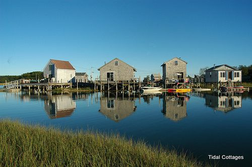 Fishing Houses in Turbat's Creek, Kennebunkport, ME such a great stay off the beaten path with great stories!