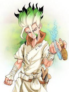 Papel de parede do anime Dr. Stone Senku Ishigami para