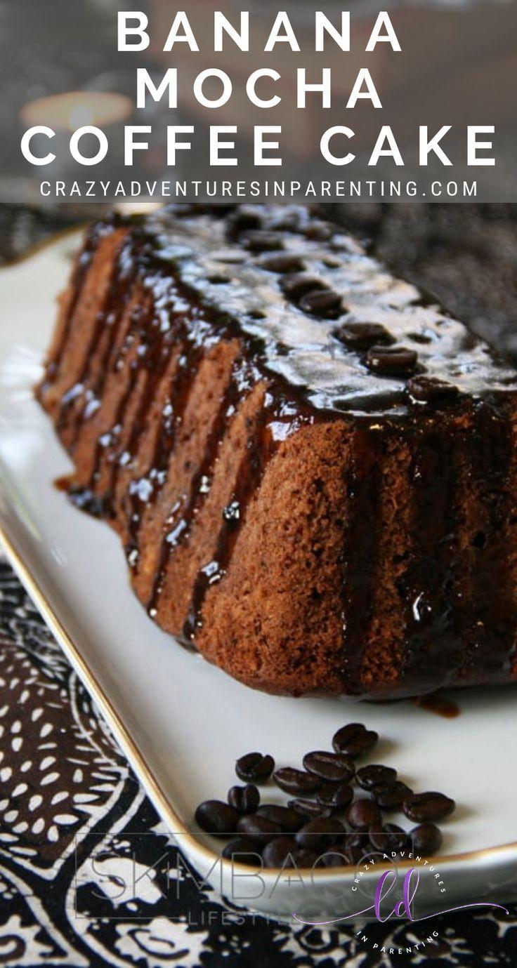 Mocha Espresso Coffee Cake With Pecan Streusel & Vanilla