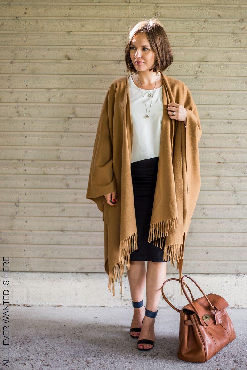 Wool cape by Marja Kurki