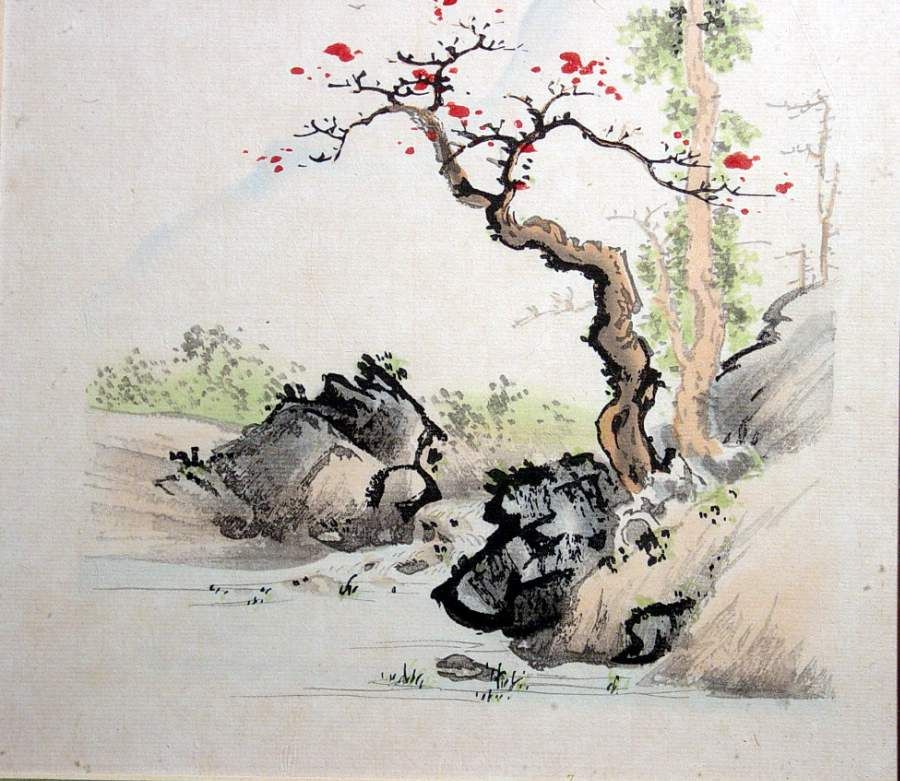 Asian watercolor art