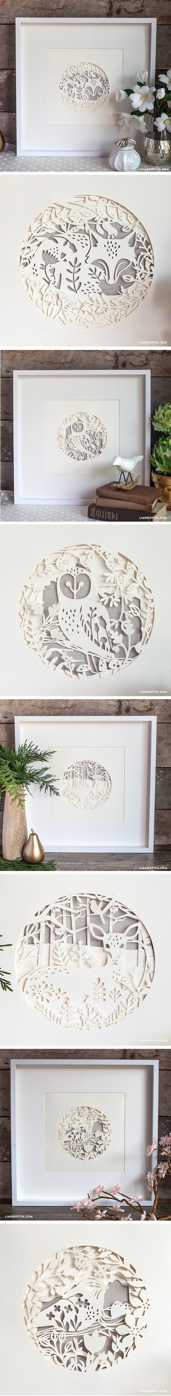 Our Home Decor Cartridge With Cricut Paper Wall Art