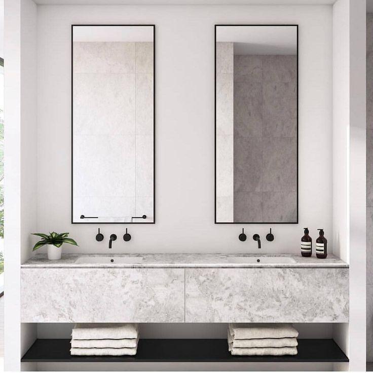 "Photo of GIA Bathrooms & Kitchens on Instagram: ""Sleek, simple symmetry || Repost via @cerastribleyarchitects"""