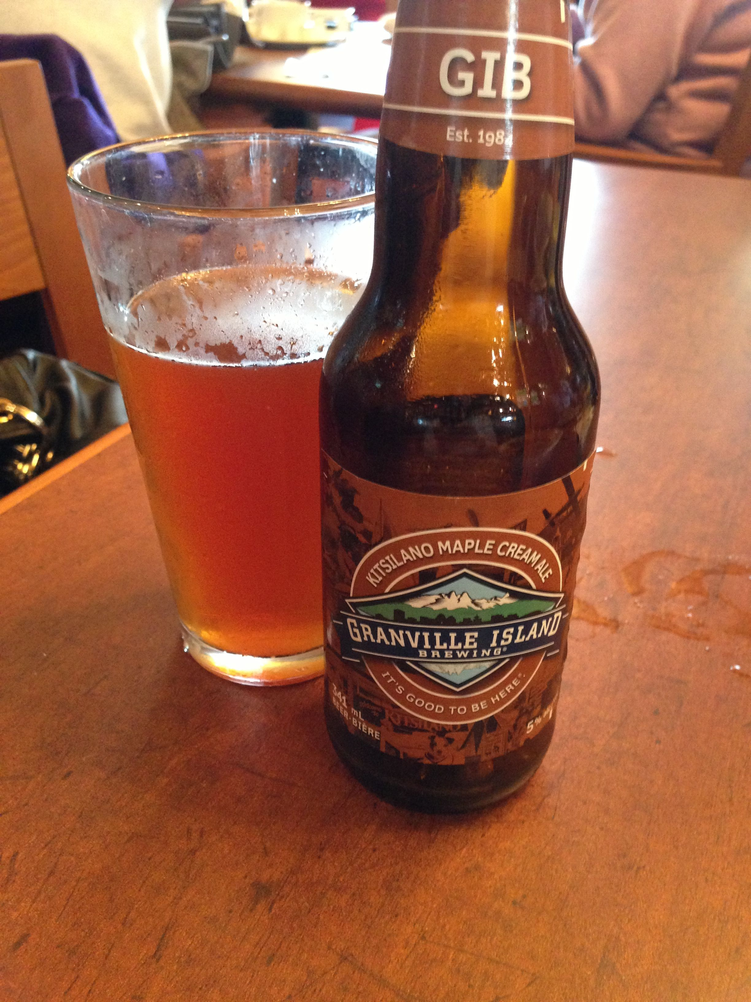 Kitsalano Maple Cream Ale By Granville Island Brewing Is A Slightly Sweet Creamy Ale At 5 0 Malt Beer Beer Brew Pub