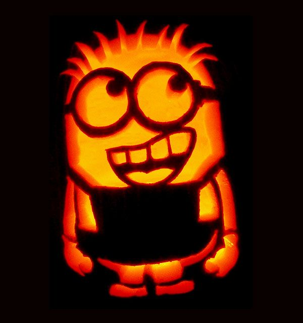Minion pumpkin carving holidays fall thanksgiving