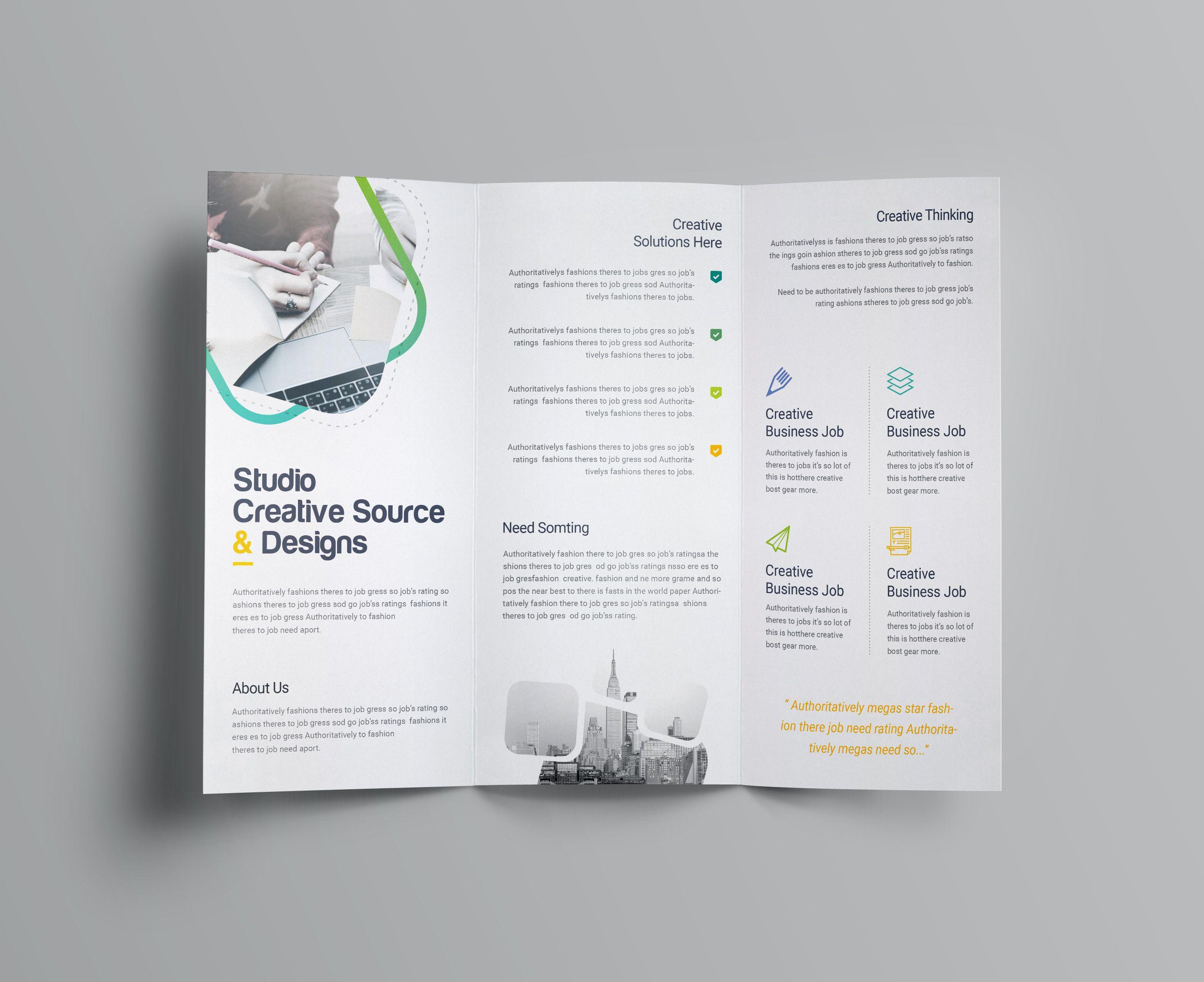 Logic Professional Corporate Tri Fold Brochure Template Graphic Templates Free Business Card Templates Business Card Template Word Free Brochure Template