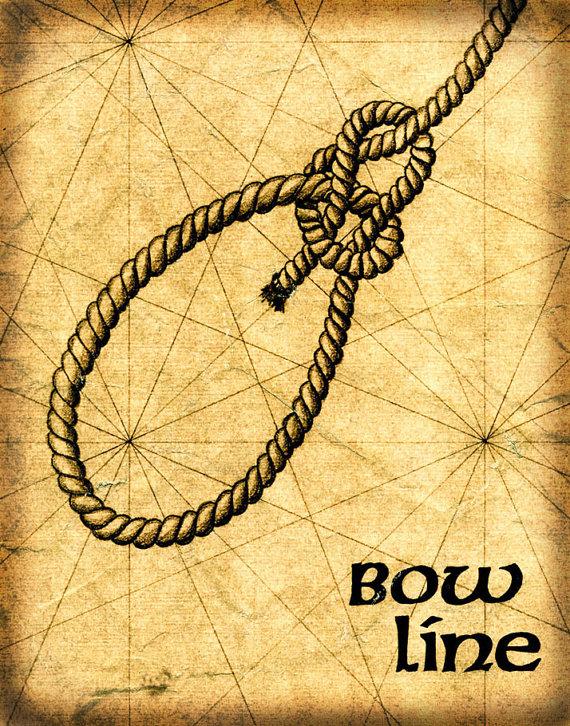 bow line knot art 8x10 sailor\u0027s knot drawing bowline bow linebow line knot art 8x10 sailor\u0027s knot drawing bowline bow line knots sailing sailing knots
