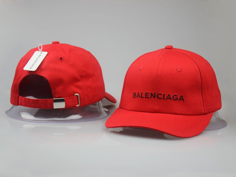 32ea710fe5df Men s   Women s Balenciaga Classic Balenciaga Embroidered Logo Baseball Hat  - Red   Black