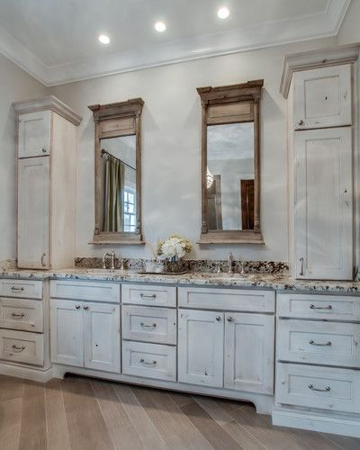 Love These White Washed Cabinets Custom Bathroom White Wash