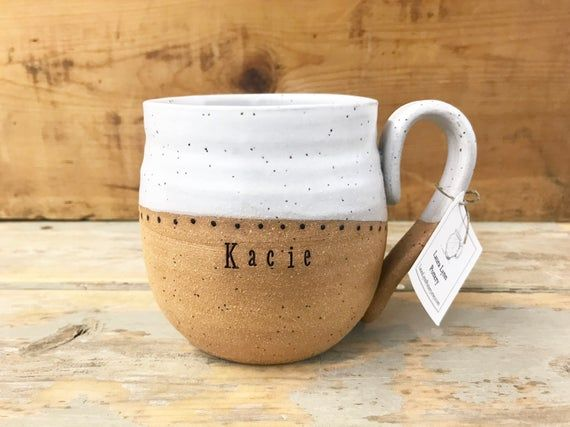 Handmade Mug with Name - Personalized Pottery - Custom Mug - Pottery Handmade - Unique Ceramic Mug - #custommugs