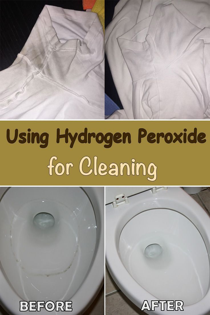 Check out how hydrogen peroxide can help you clean and whiten