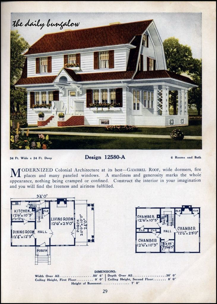 1925 26 C L Bowes House Plans Vintage House Plans Colonial House Plans Architecture House