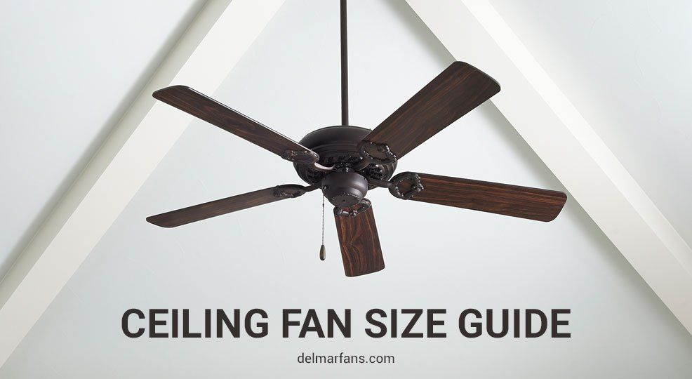 Ceiling Fan Size Guide How To Measure And Size A Fan For Any Room Ceiling Fan Size Ceiling Fan Bedroom Ceiling Fan