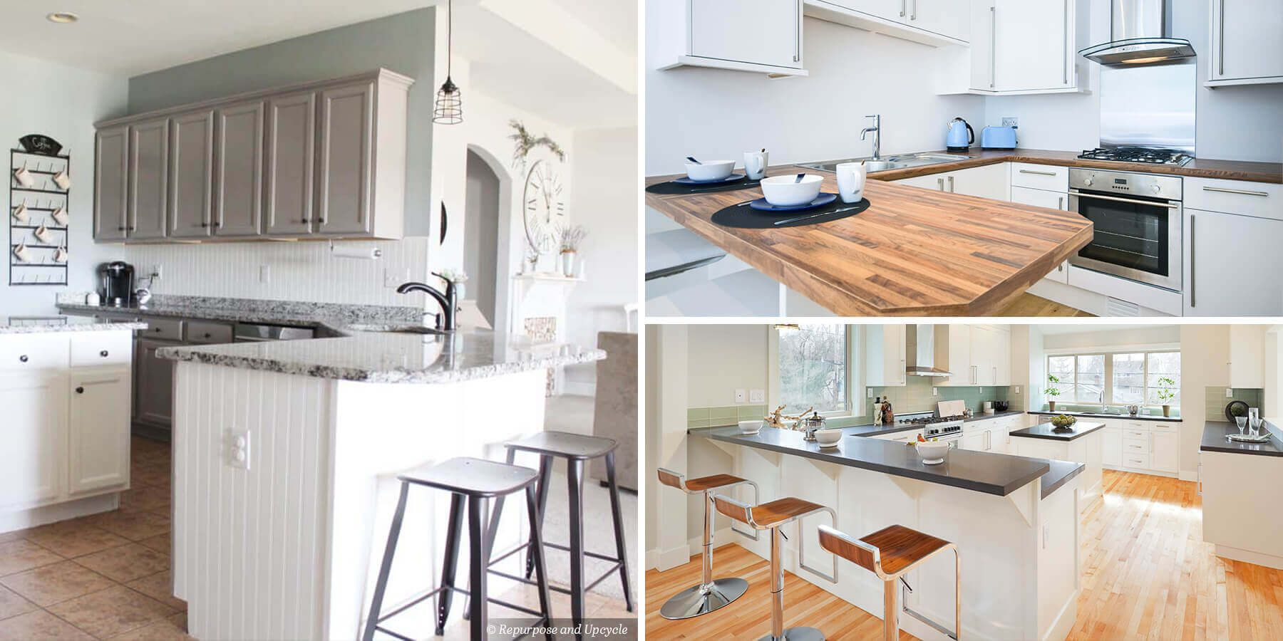 A breakfast bar acts as a table and countertop in one for ...