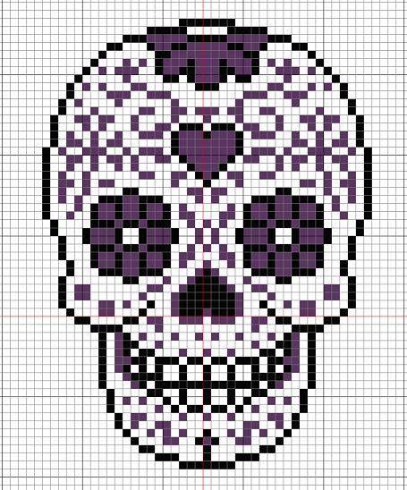 Tête De Mort Mexicaine Pour C Perles Pixel Art Tête De