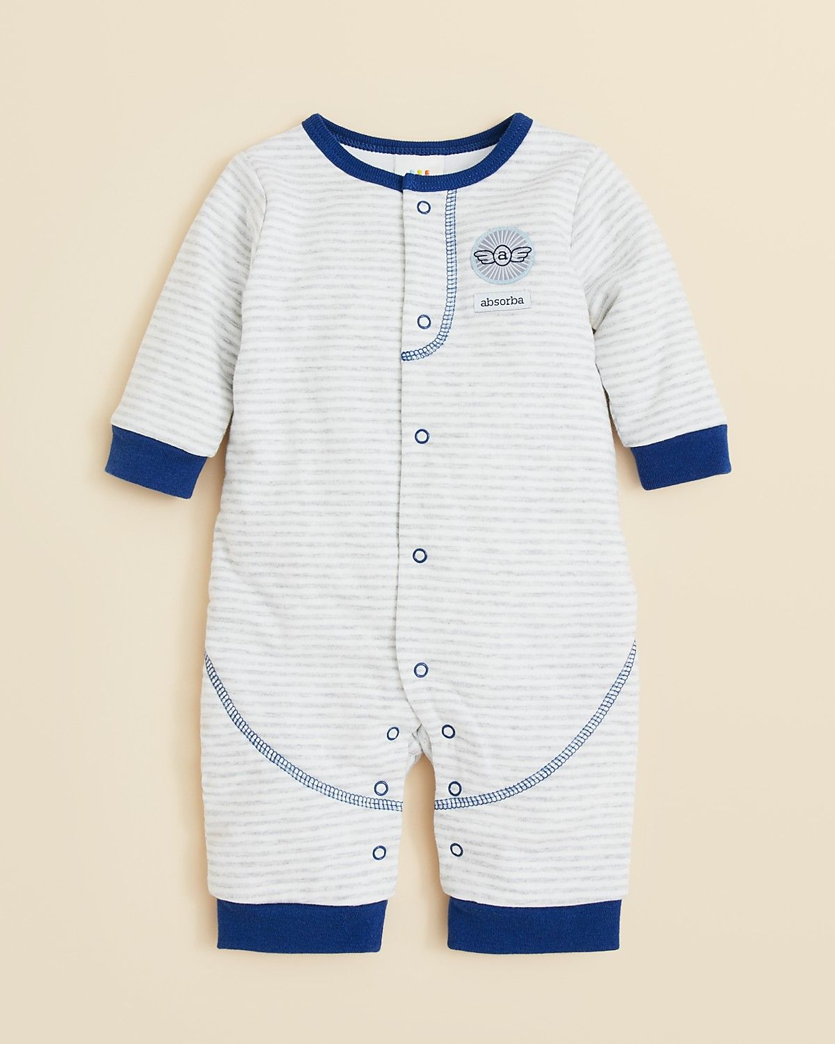 0c73263a5 Absorba Infant Boys' Stripe Coverall - Sizes 0-9 Months | Bloomingdale's