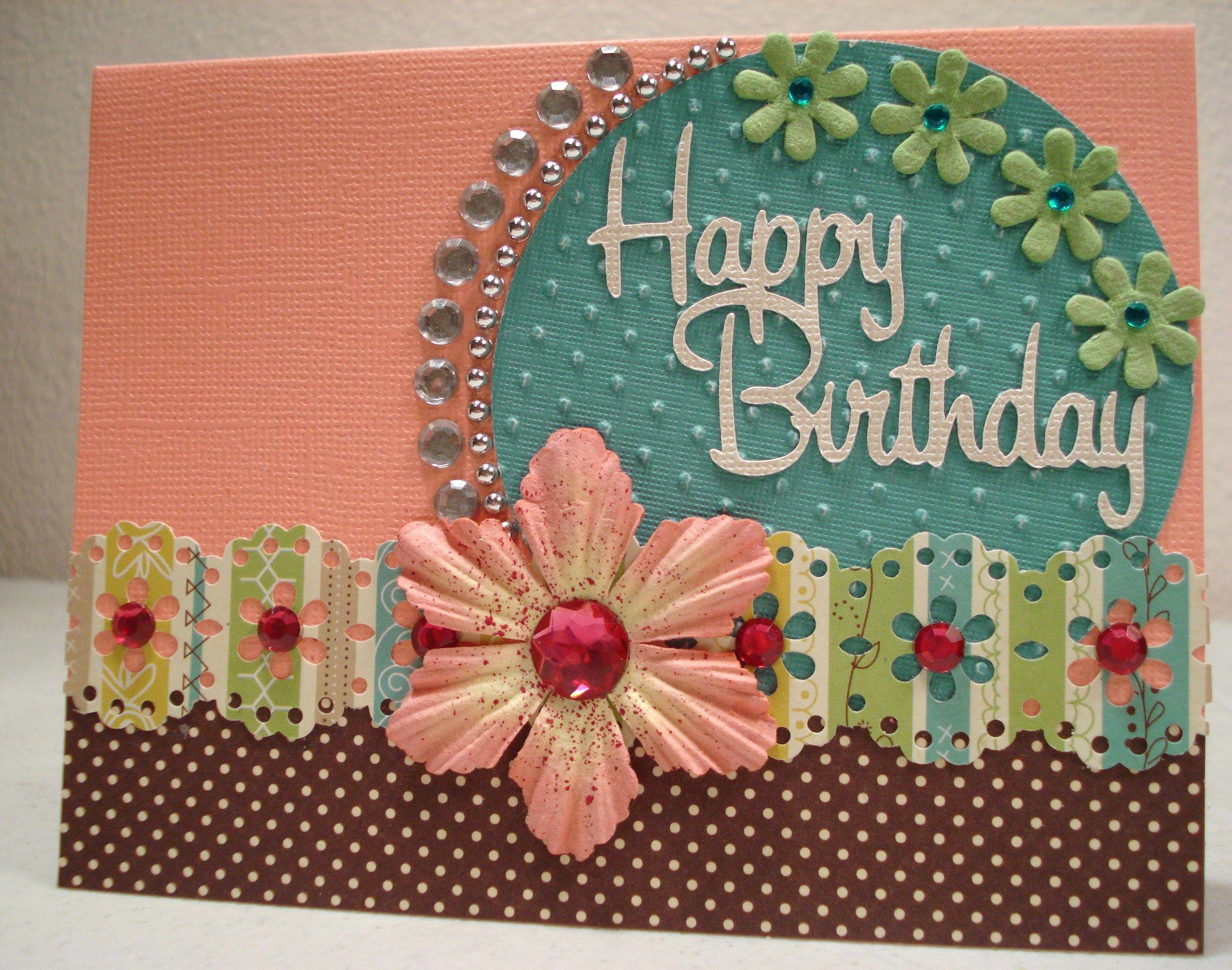 happy birthday card  scrapbook  cards handmade