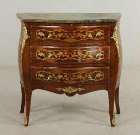 20th C. French Style Marble Top Commode