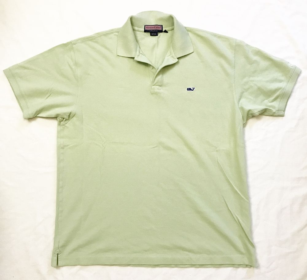 Vineyard Vines Mens Sz Large Polo Shirt Green Ubs Classic Cotton