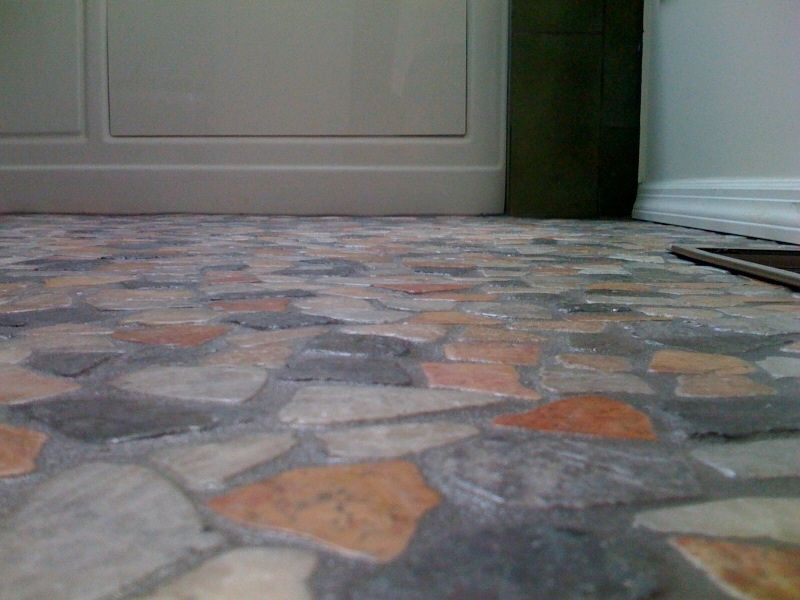 This tile floor / natural stone mosaic floor was done in 2010 - Los ...