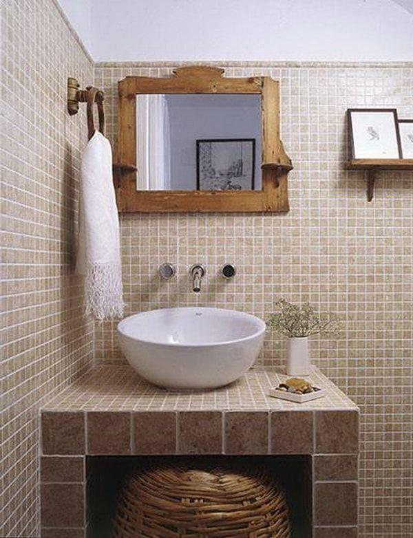 Muebles de obra para baños pequeños