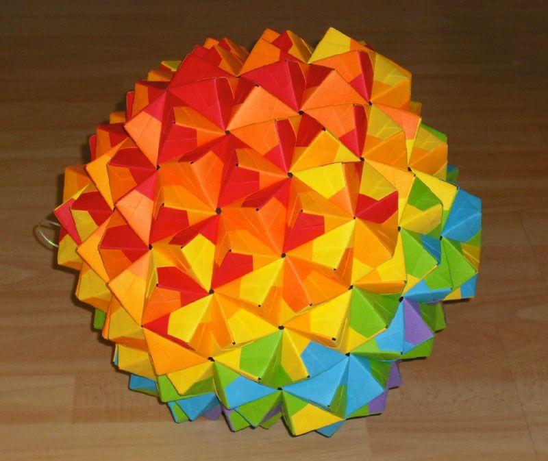 origami epcot ball bitridimensional design pinterest