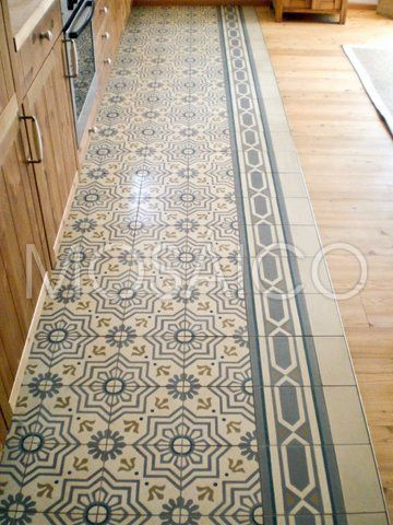 Floor stenciling ... when a person couldn't afford rugs. I've seen this in older homes, and done properly, it's amazing!