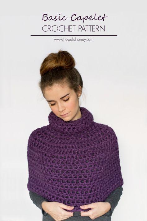 Basic Capelet Crochet Pattern Capelet Free Crochet And Crochet