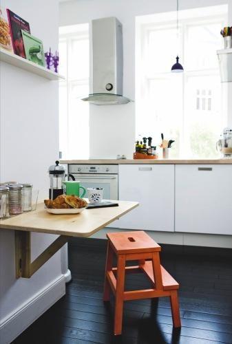 Ideas para cocinas pequeñas, una mesa que no ocupa nada | Comedores ...