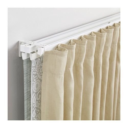 Vidga Single And Triple Track Set White Ikea Ikea Curtains Curtain Track Curtains