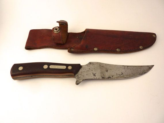 Schrade Old Timer Knife and Leather Holster | Holsters ...