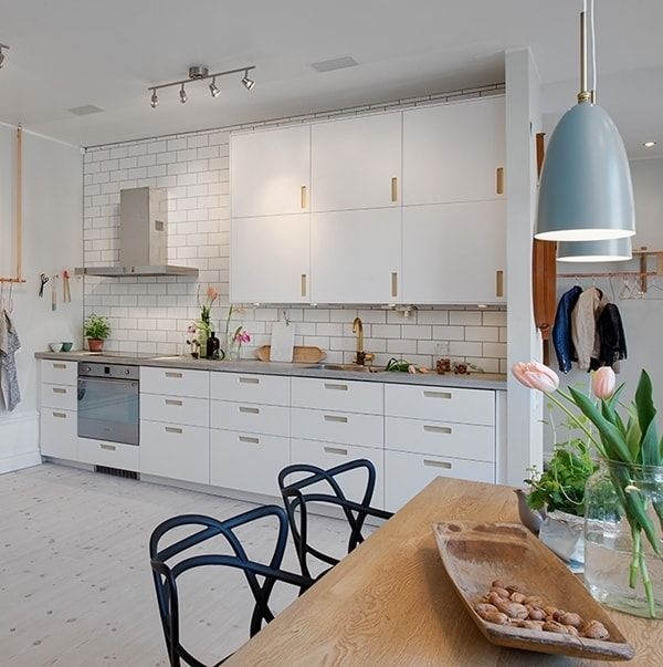 Cocinas de estilo n rdico kitchens laundry room for Cocina estilo nordico